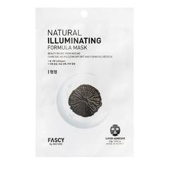 Тканевая маска для лица Fascy с частицами древесного угля 23 гр