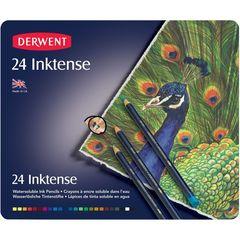 Набор из 24 акварельных карандашей Derwent Inktense