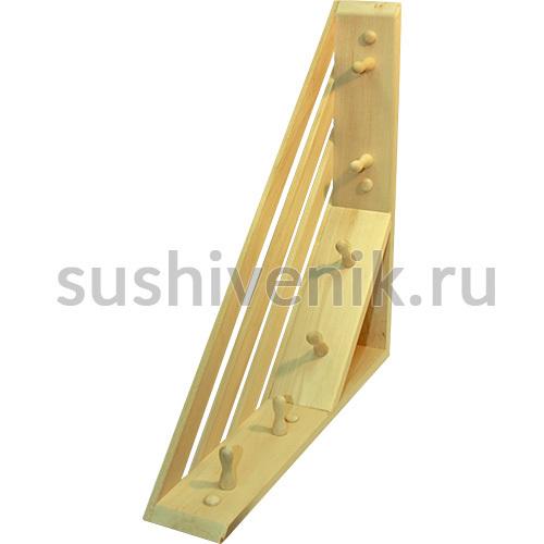 Вешалка угловая с 6 крючками (липа)
