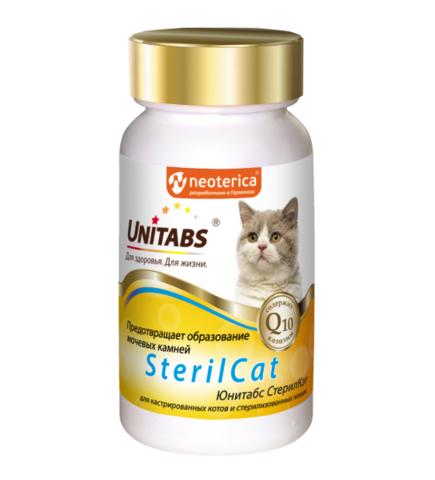 ЮНИТАБС SterilCat для кастрированных котов и стерилизованных кошек, 120 таб.