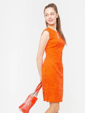Фото жаккардовое облегающее платье-футляр с открытыми плечами - Платье З170а-765 (1)