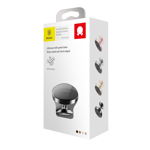 Магнитный держатель Baseus Small Ears Series Magnetic Bracket (Vertical type) Black
