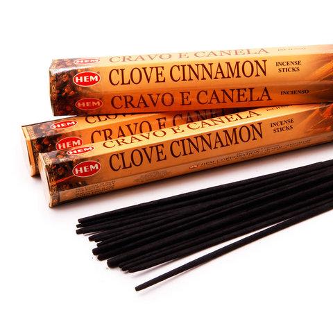 Благовония HEM Hexa CLOVE-CINNAMON, 20 г (20 ароматических палочек)