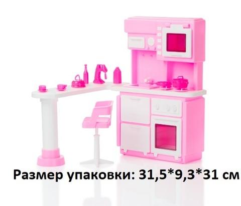 Мебель Кухня Розовая С-1388 (Огонёк)