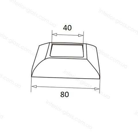 Крышка декоративная для стойки 40*40 мм ST-437