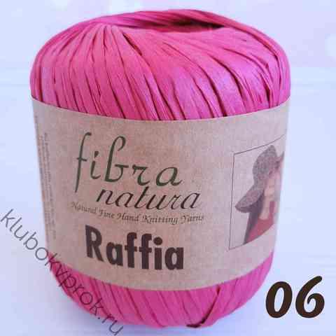 FIBRANATURA RAFFIA 116-06, Темный розовый