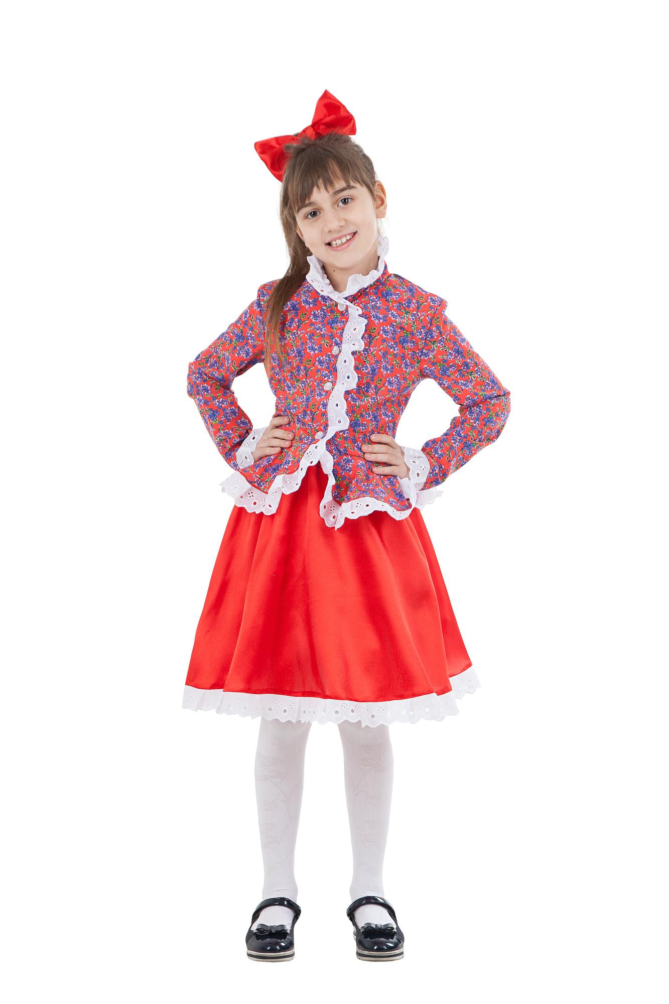 Карнавальный костюм детский Казачка в красном