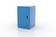 Тумба верстачная дверца и 2 полки, 01.410L серия Classic Light, Ferrum