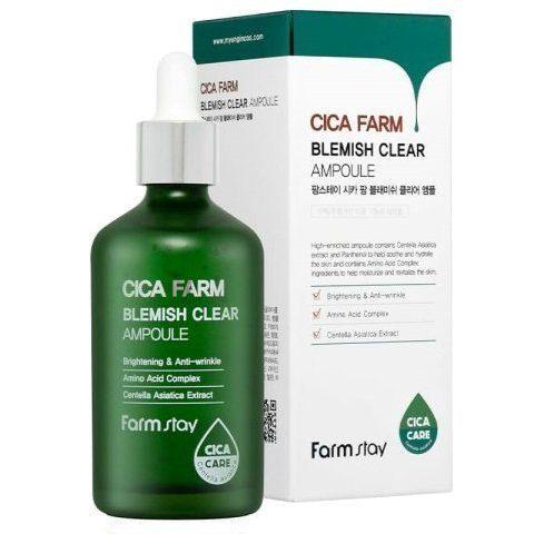 Высокоактивная ампульная эссенция с центелой азиатской против несовершенств кожи FarmStay Cica Farm Blemish Clear Ampoule 100 мл