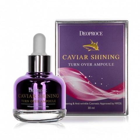 Deoproce Caviar Shining Turn Over Ampoule ночная антивозрастная сыворотка с экстрактом икры акулы
