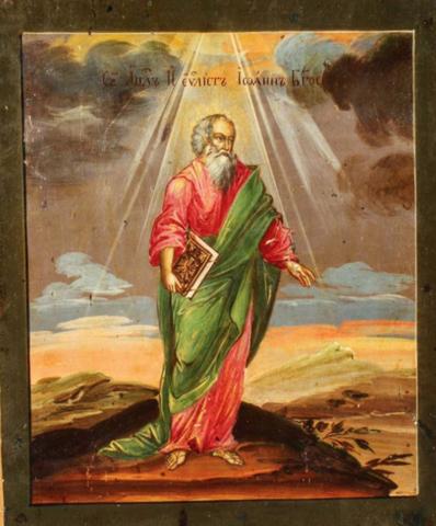 Икона святой Иоанн Богослов на дереве на левкасе  мастерская Иконный Дом