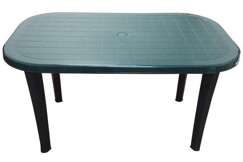 Пластиковый стол овальный темно-зеленый