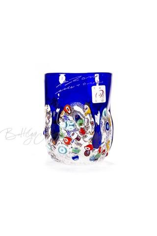 Стакан из муранского стекла малый голубой (по предзаказу)