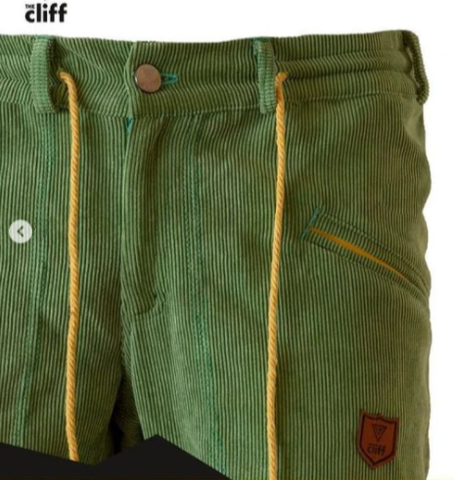 Брюки для скалолазания Hi-Gears The Cliff Corduroy Pants green (зеленые)