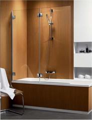Шторка на ванну  Radaway Carena  PND 130 202201-101L левая, крепится слева, профиль хром, стекло прозрачное 130x150см.