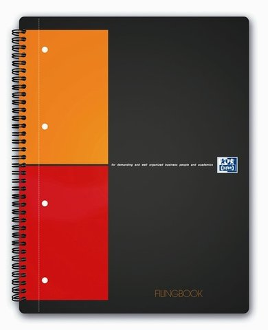 Бизнес-тетрадь International FilingBook A4+ (23.3*29.8см) клетка 100л твердая обложка