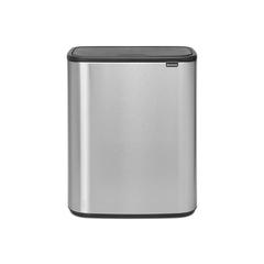 Мусорный бак Touch Bin Bo (2 х 30 л), Стальной матовый (Fingerprint Proof)