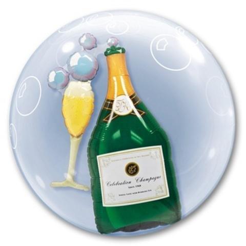 Воздушный шар Деко-бабл Шампанское