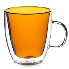 """Кружка с двойными стенками """"Sidney"""" 380 мл цветная, желтое стекло"""