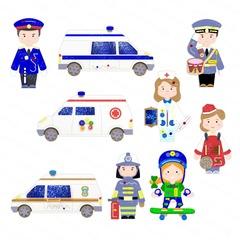 Набор бизибордов «Профессии + транспорт»