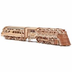 Поезд Атлантический экспресс от Wood Trick cборная модель - Локомотив, деревянный конструктор 3D пазл