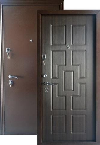 Дверь входная Меги ДС-531, 2 замка, 1,5 мм  металл, (античная медь+венге)