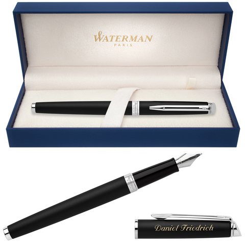 Перьевая ручка Waterman Hemisphere, цвет: MattBlack CT, перо: F123