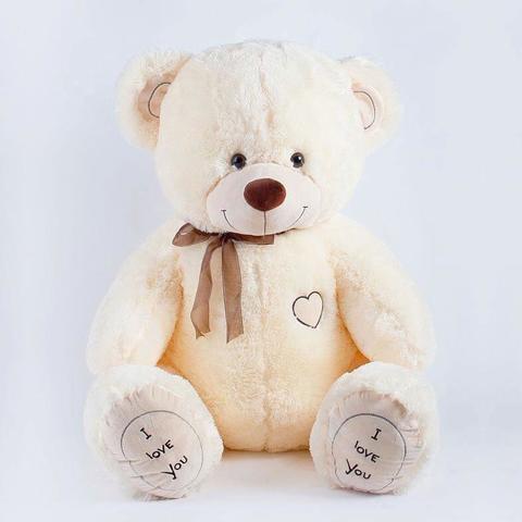 Плюшевый медведь Молочный 90 см