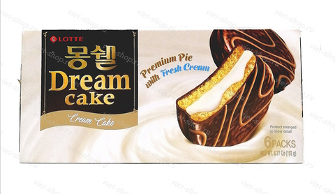 Пирожное LOTTE Dream Cake cream, Корея, 192 гр.