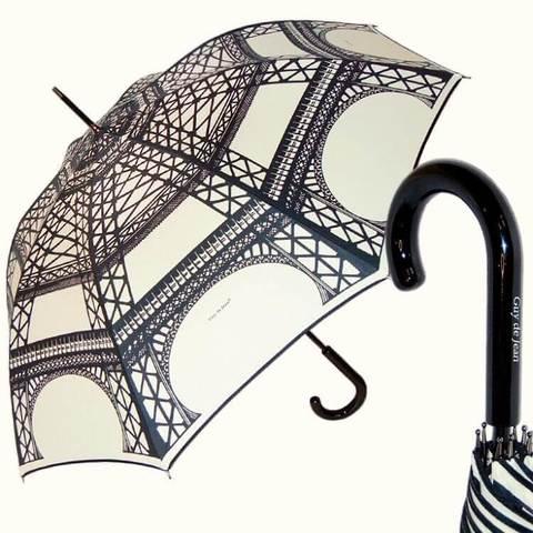 Белый женский зонт эйфелева башня, париж