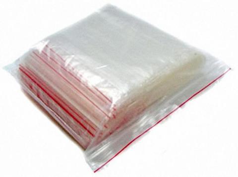 Зип лок пакет с замком 7х10 см 45 мкм с красной полосой Р