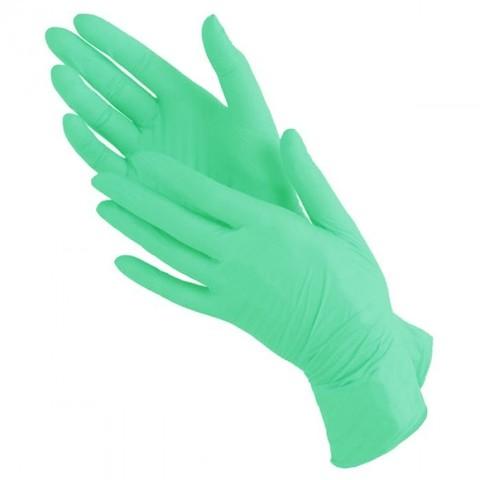 Перчатки зелёные нитриловые