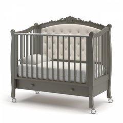 Кровать детская Жанетт new с колесами и ящиком муссон