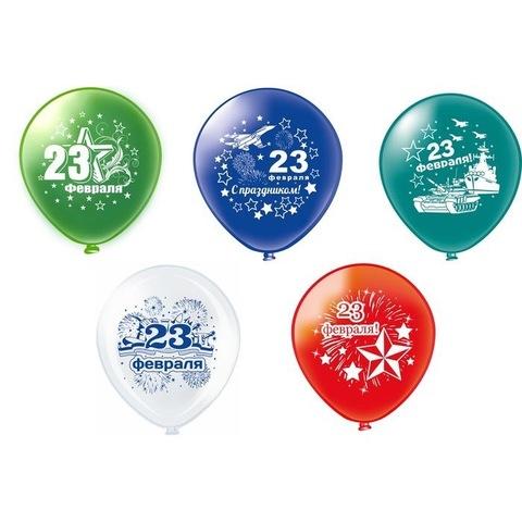Воздушные шары с гелием на 23 февраля