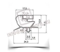 Уплотнитель для торгового холодильного шкафа Стинол 222E 1510*570 мм (005/018)