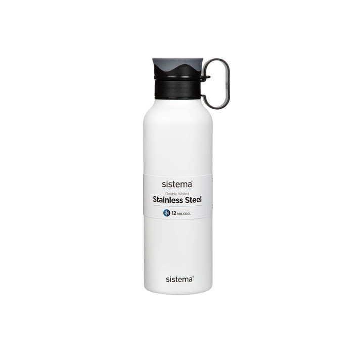 "Термобутылка Sistema ""Hydrate"" с петелькой 600 мл, цвет Белый"