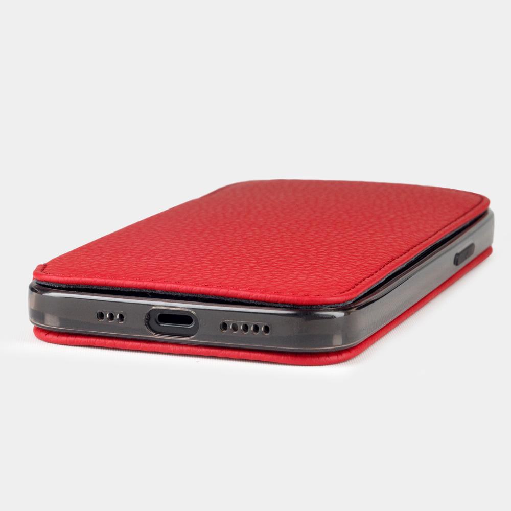 Чехол Benoit для iPhone 12/12Pro из натуральной кожи теленка, красного цвета