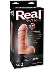 Вибромассажер реалистик на присоске Real Feel Deluxe 6.5 No. 2 водонепронецаемый
