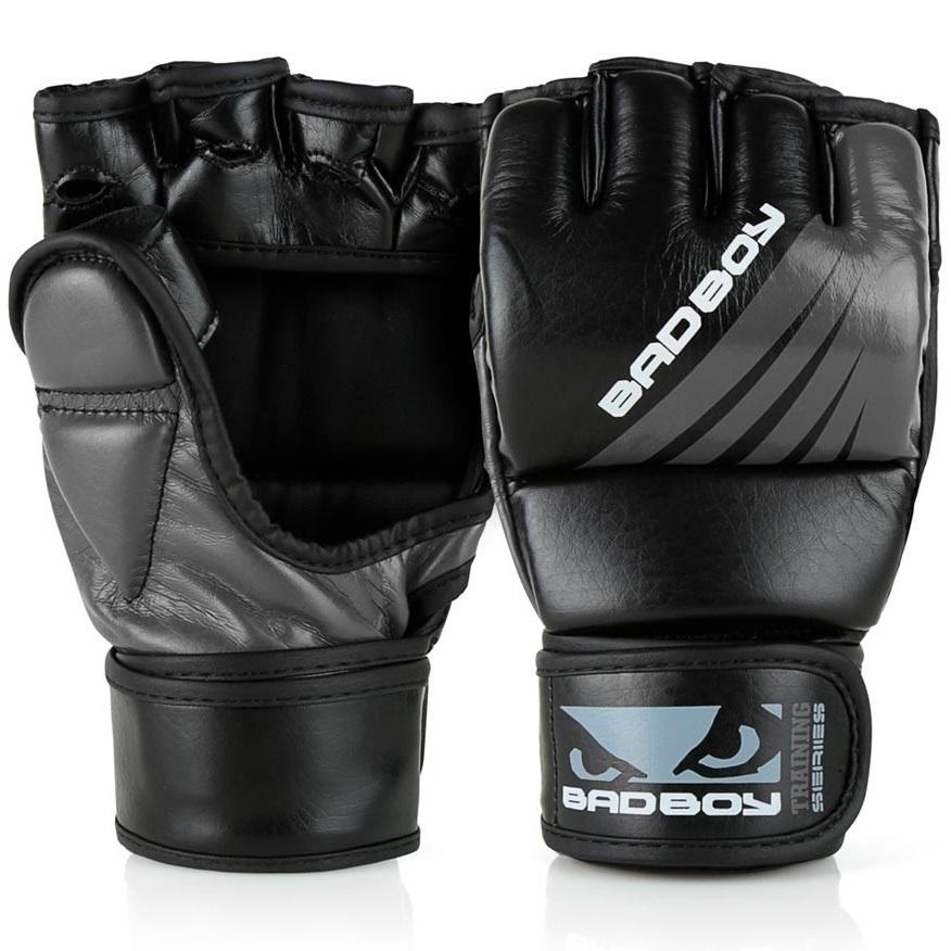 ММА перчатки Перчатки для ММА Bad Boy Training Series Impact With Thumb Black/Grey 1.jpg