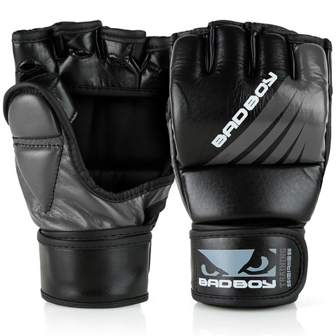 Перчатки для ММА Bad Boy Training Series Impact With Thumb Black/Grey