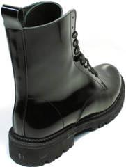 Ботинки под мартинсы черные женские зимние Ari Andano 740 All Black.