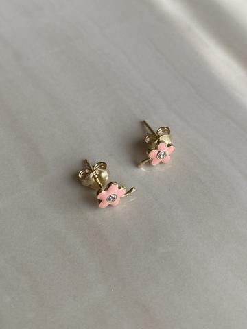 Серьги Чамомила, розовые
