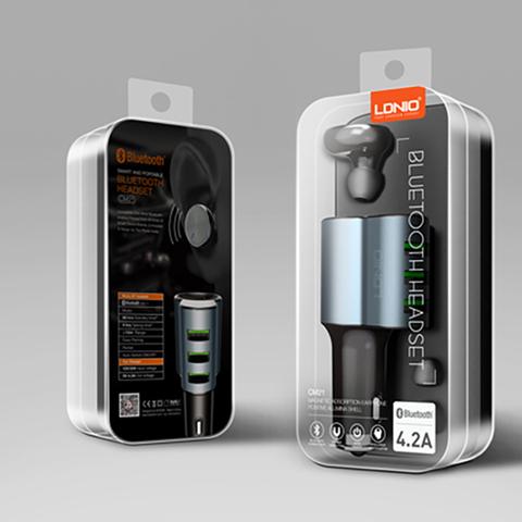 Гарнитура + авто зарядка LDNIO CM21 2в1 Bluetooth Headest
