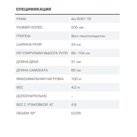 blade sport quick 205 характеристики