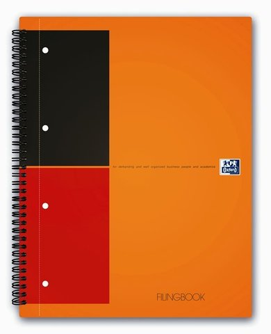 Бизнес-тетрадь International FilingBook A4+ (23.3*29.8см) линейка 100л твердая обложка