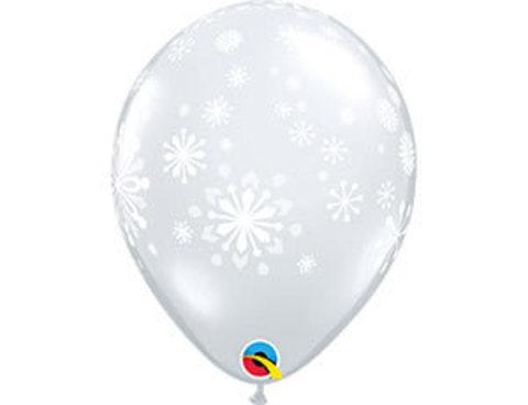 Воздушные шары Снежинки Clear