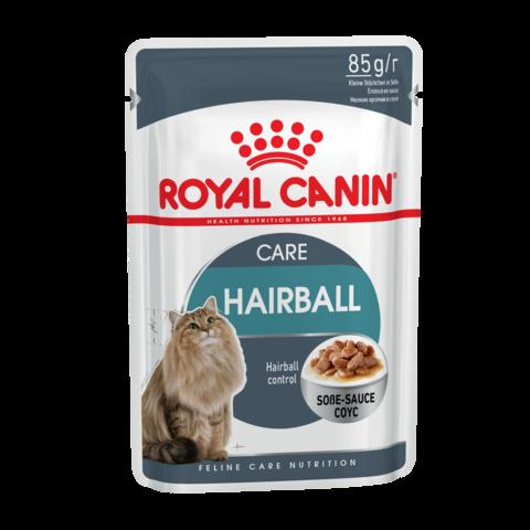 Royal Canin Hairball care Консервы для взрослых кошек для профилактики образования волосяных комочков в ЖКТ кусочки в соусе (Пауч)