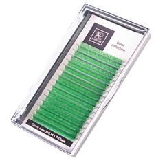Цветные ресницы BARBARA (зелёные №2) МИКС