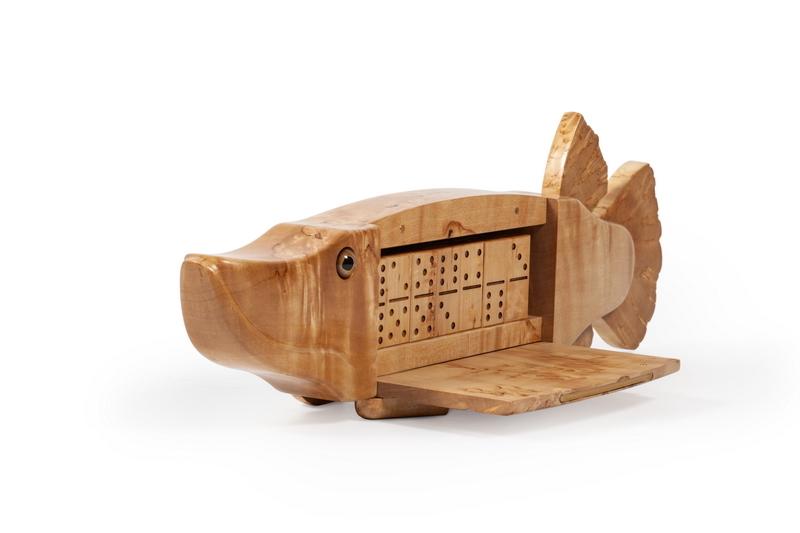 Эксклюзивное подарочное домино Щука