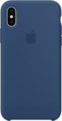 Клип-кейс Apple Silicone Case для iPhone X (темный кобальт)